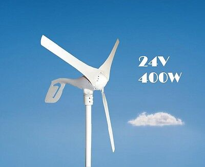 Wind Turbine Generator 3 Blades 24V 400W Home Use Tool
