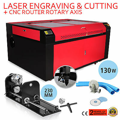 130W Co2 Laser Engraving Cnc Rotary Axis Air Assist 230Mm Track Engraver Tool