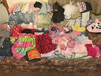 Huge Lot Of 115  Pieces 2T Summer Girls Clothes Homemade, FAO CUTE!!!!! Must See