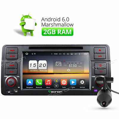 """US Dashcam Octa Core 7""""Screen Android6.0 Car DVD Player GPS O Fits BMW E46 98-05"""