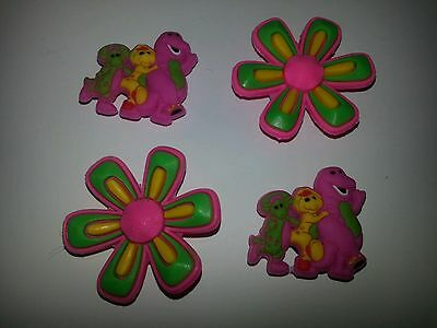 Barney Bj Baby Bop Set Of 4 Shoe Charms Lot For Croc Shoes Jibbitz Bracelets