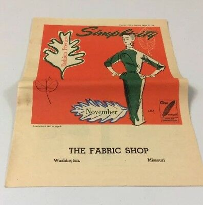 Vintage  1953 Simplicity Sewing Pattern  Fashion Preview Booklet Illustrations