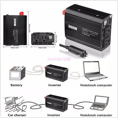 DC12V to AC 110V 300W Vehicle Pure Sine Wave Power Inverter Circuits Off Grid