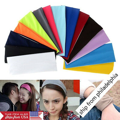 Women Wide Sports Yoga Headband Lady Stretch Hairband Elastic Hair Band Turban