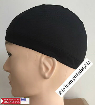 Dome Cap Spandex Helmet Liner Sports FootBall Biker Beanie Hat Headwrap Stretch