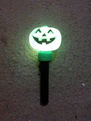"Halloween Green Light-Up Pumpkin ""flashlight"" Free Shipping"