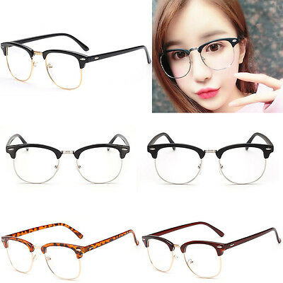 Retro Clear Lens Nerd Frames Glasses Men Womens Eyewear Fashion Sunglasses Girls