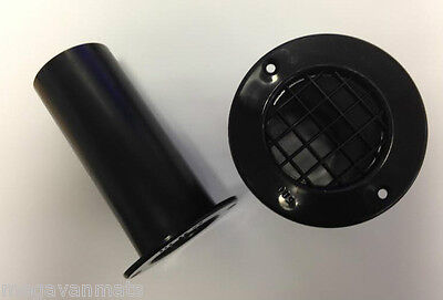 2 x BLACK LONG LENGTH GAS DROP OUT FLOOR VENTS - MOTORHOMES CAMPERVANS CARAVANS