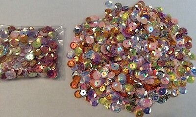 Mixed Bag Of 6mm Round Sequins Sewing,wedding, Crafts