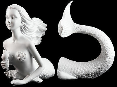 White Mermaid 30 cm Bookends