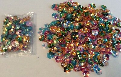 Mixed Bag Of 8mm Round Flower  Sequins Sewing,wedding, Crafts