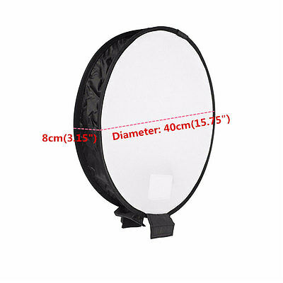 40cm Round Studio Soft Screen Softbox Pop-Up Flash Diffuser Softbox For Camera