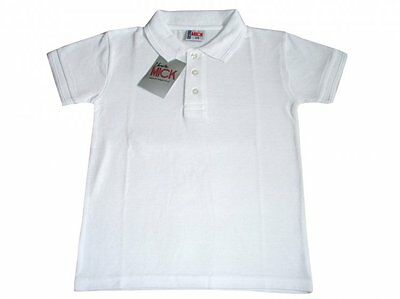 Ex UK Store Boys 2 Pack White School Polo T Shirts Pique 3-16Y