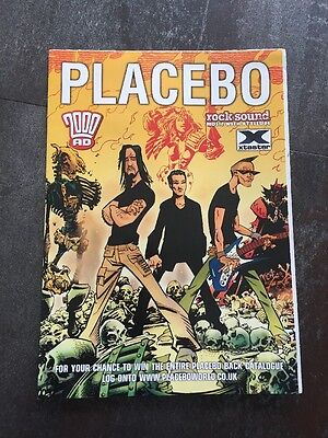 2000AD Placebo Poster Prog Comic xtaster Rock Sound Judge Dredd 84cm x 59cm RARE