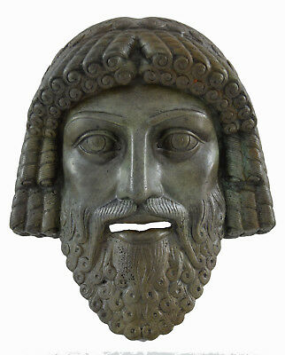 Zeus Bronze mask God King of all ancient Greek Gods atifact