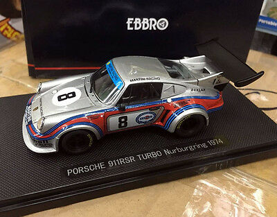 1/43, Diecast, Model, Car, EBBRO, Porsche, 911RSR, Turbo, Nurburgring, 1974, #8