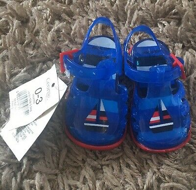 BNWT - Boys George Jelly Shoes - 0-3 Months