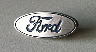 Ford Logo brooche pin badge blue, silver 1960s