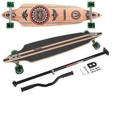 Longboard Indian drop through + Maronad Stick Skateboard Lernen Hilfe Kickboard