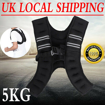 5Kg Weight Vest Gym Weight Training Running Adjustable Jacket Strength Fitness A