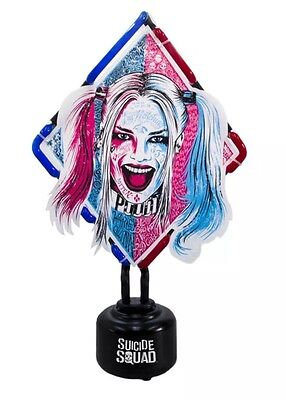 Suicide Squad Neon Light - Harley Quinn Groovy - Red & Blue table lamp