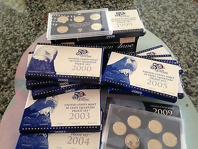 State Quarters and D.C. and US Territories 1999-2009 Proof sets