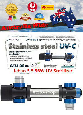 Jebao 36W Stainless Steel UV Sterilizer Clarifier - 35% more UV Efficiency!