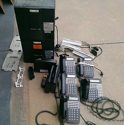 Big Lot - Phone System with 5 NEC phones and 3 telephony modems + Acc.