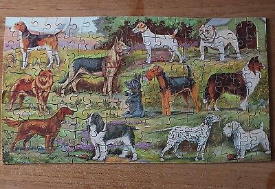 Vintage Victory Dogs Wooden Jigsaw Puzzle  - Complete & Boxed