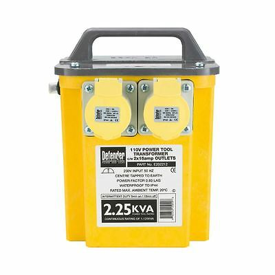 Defender 2.25kVA Transformer 2x 16A 110V Outlets 240V (CLEARANCE)