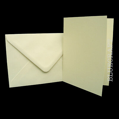 100 sets x C6 A6 Premium Ivory Card Blanks with Envelopes