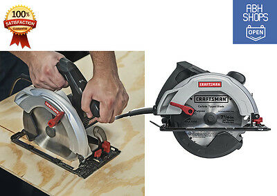Craftsman 12 Amp 7.25 inch Corded Electric Tool Power Circular Saw Woodworking