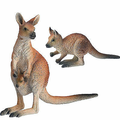 2 X Bullyland Toy Animal Figures of KANGAROO and JOEY - New with Tags