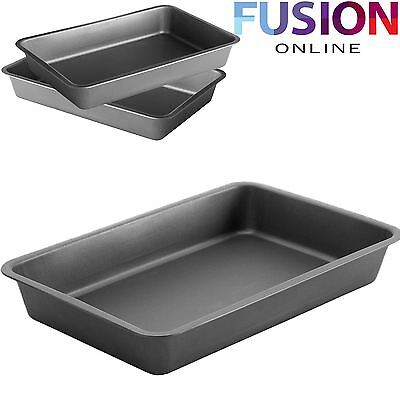 Carbon Steel Non-Stick Baking Roasting Cooking Dish Tray Tin Oven Bake Pan