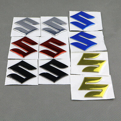 "3D ""S"" Fuel Gas Tank Fairing Pad SUZUKI Emblem Decal Sticker For SUZUKI S Badge"