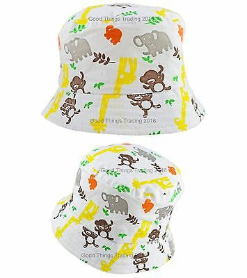Baby Sun Hat Summer Bucket Beach Cap Boys Girls Infant Toddler Safari 0-18 Month