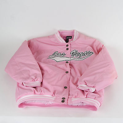 "Jon Lauren Hot Pink Women's ""Las Vegas"" Bomber Jacket – XL"