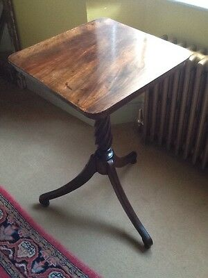 Antique Georgian Regency Handsome Solomonic Column Tripod Table