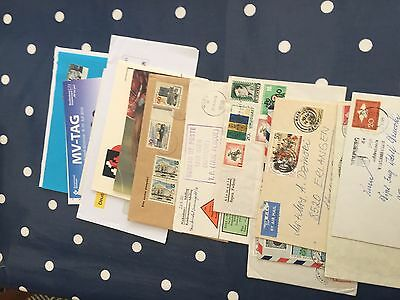 world cover lot incl airmail good mid and top values & registered items, super