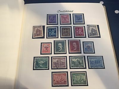 Germany Reich Post Bohmen Bund collection nhm mint & used in album incl Hitler