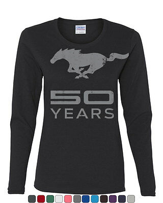 Ford Mustang 50 Years Long Sleeve T-Shirt Anniversary Licensed