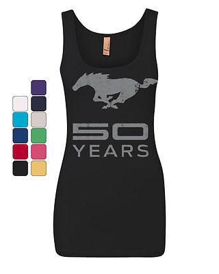 Ford Mustang 50 Years Tank Top Anniversary Licensed Top