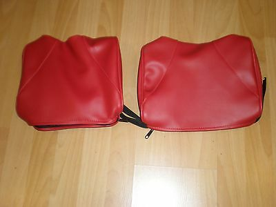 72-79 MERCEDES R107  350SL and  450SL ~ NEW PAIR: RED HEADREST COVERS