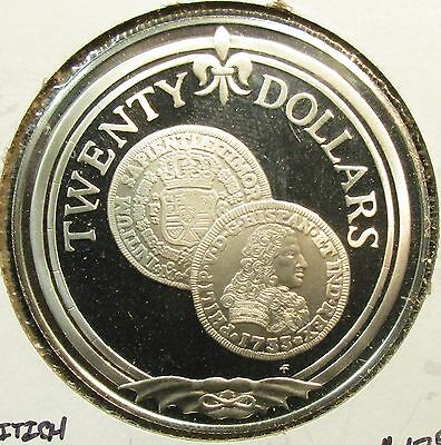 1985 British Virgin Islands 20.00 Dollar Sterling Proof With Free Shipping!!!