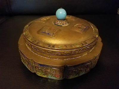 Very Beautiful Chinese Enameled Brass Box