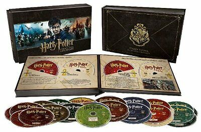 Pack HARRY POTTER Coleccion HOGWARTS  - BLURAY  BLU RAY + DVD