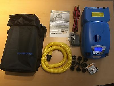 Seamax Genovo Power 12 Volt Electric Air Pump for Inflatable Boats