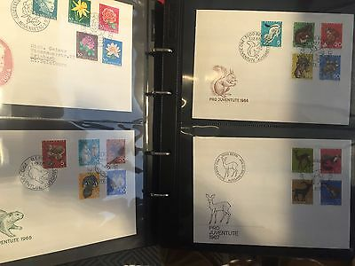 Switzerland Pro Juventute FDc collection with many 4 blocks & many registered