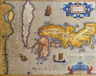 Stunning Antique Map Japan (Japonia) As Seen In 1606 Superb For Framing