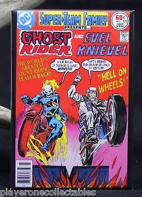"Ghost Rider and Evel Knievel 2"" X 3"" Fridge / Locker Magnet."